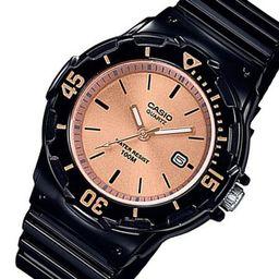 Casio Women's Dive Style Watch, Black/Rose Gold LRW200H-9E2V | Walmart (US)
