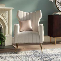 Lauretta 27.5'' Wide Tufted Velvet Wingback Chair | Wayfair North America