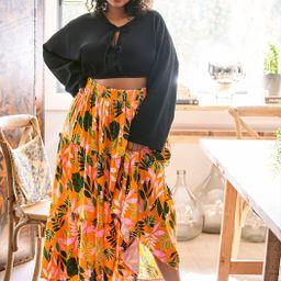 Tiered Maxi Skirt | Eloquii