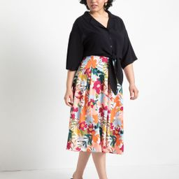 Full Printed Skirt | Eloquii