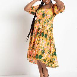 Square Neck Midi Dress | Eloquii