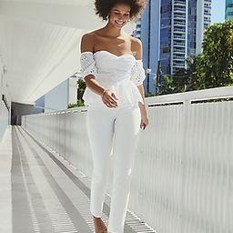 Super High Waisted Supersoft White Raw Hem Slim Jeans | Express