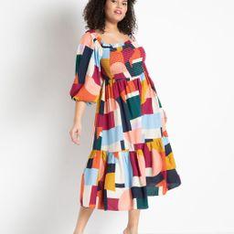 Off The Shoulder Smocked Bodice Dress | Eloquii
