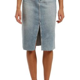 Mavi Megan Nonstretch Raw Hem Denim Skirt | Nordstrom
