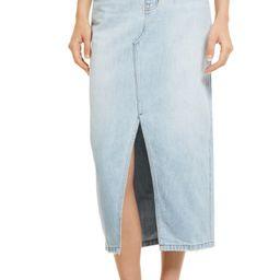 Rigid Denim A-Line Midi Skirt | Nordstrom