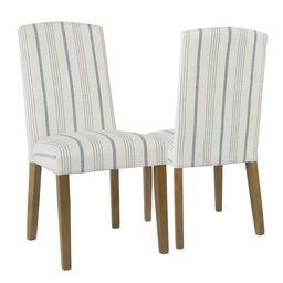 HomePop Classic Parsons Dining Chair - Blue Calypso Stripe (Set of 2) | Overstock