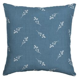 Arden Selections Blue Ditsy Floral Outdoor 16 x 16 in. Square Pillow | Walmart (US)