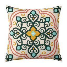 "Better Homes & Gardens 19"" x 19"" Medallion Outdoor Toss Pillow, Multi-color | Walmart (US)"