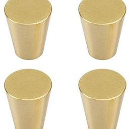 """RZDEAL 4Pcs 0.79""""x0.98"""" Solid Brass Cabinet Knobs Handle Cone Shoe Book Drawer Knob Handle (Brass... 