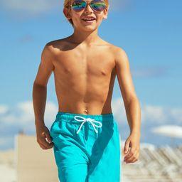 Boys Turquoise Swim Trunks | Cabana Life
