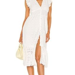 Cleobella Brielle Midi Dress in Ivory from Revolve.com | Revolve Clothing (Global)