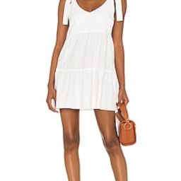 Show Me Your Mumu Emme Tie Dress in White Linen from Revolve.com | Revolve Clothing (Global)