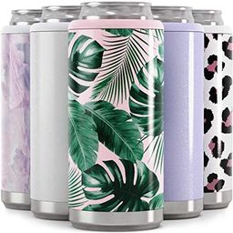 Maars Skinny Can Cooler for Slim Beer & Hard Seltzer | Stainless Steel 12oz Sleeve, Double Wall V... | Amazon (US)