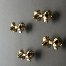 Bow Knobs brass drawer pulls wardrobe Knob Cabinet Knobs Modern girl room  Drawer Knob | Etsy (US)