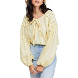 Free People   Maria Maria Lace Peasant Top   Yellow   Size S   Walmart (US)