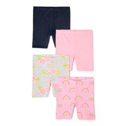 Garanimals Baby Girls & Toddler Girls Biker Shorts, 4-Pack (12M-5T) | Walmart (US)