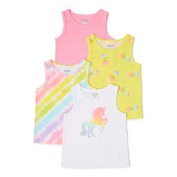 Garanimals Baby & Toddler Girls Tank Tops, 4-Pack, Sizes 12M-5T | Walmart (US)