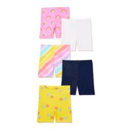 Garanimals Baby Girls & Toddler Girls Biker Shorts, 5-Pack, Sizes 12M-5T | Walmart (US)