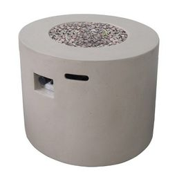 "Aidan Round 31"" Lightweight Concrete Gas Fire Pit - Light Gray - Christopher Knight Home | Target"