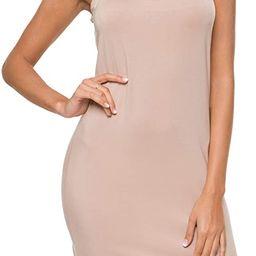 Malist Women Full Slip Crewneck Adjustable Spaghetti Strap Cami Under Dress   Amazon (US)
