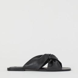 Leather Slides   H&M (US)