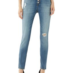 Scoop Women's High-Rise Button Fly Skinny Jeans | Walmart (US)