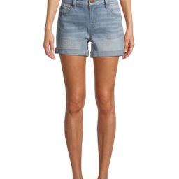Time and Tru Women's Mid Rise Core Shorts | Walmart (US)