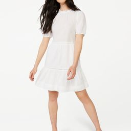 Free Assembly Women's Tiered Mini Dress with Puff Sleeves | Walmart (US)