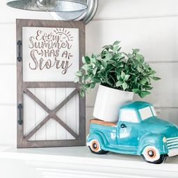 Interchangeable Seasonal Barn Door Wood Sign | Etsy (US)