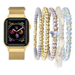 Metal Loop Band & Gold Bracelet for Apple Watch®   Nordstrom