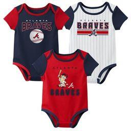 MLB Atlanta Braves Baby Boys' 3pk Bodysuit Set   Target