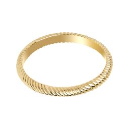 Etched Band Ring in Gold | Astrid and Miyu