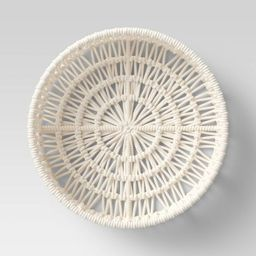 """14"""" x 4"""" Decorative Weave Tray Cream - Project 62™ 