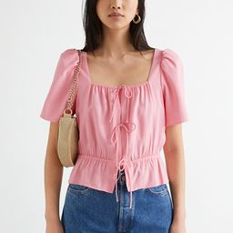 Puff Sleeve Spaghetti Tie Top | & Other Stories