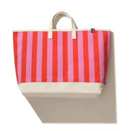 The All Over Striped Tote - Pink/Poppy | KULE (US)