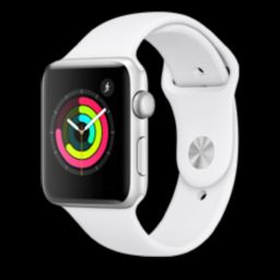 AppleWatch Series3 (GPS, 42mm) - Silver Aluminum Case with White Sport Band | Amazon (US)
