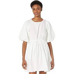 Poplin Puff Sleeve Tie-Waisted Mini Dress | Zappos