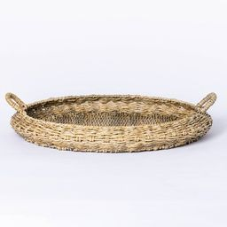 Large Round Manmade Outdoor Wicker Tray - Threshold™ designed with Studio McGee   Target