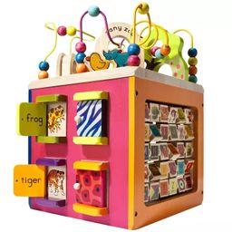 B. toys Wooden Activity Cube - Zany Zoo   Target