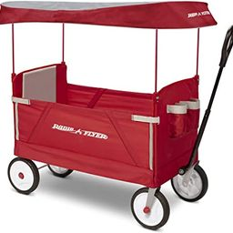 Radio Flyer 3-In-1 EZ Folding, Outdoor Collapsible Wagon for Kids & Cargo, Red   Amazon (US)