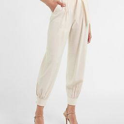High Waisted Belted Jogger Pant | Express