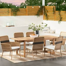 2pk Wicker & Metal Patio Dining Chairs Stripe - Threshold™ designed with Studio McGee   Target