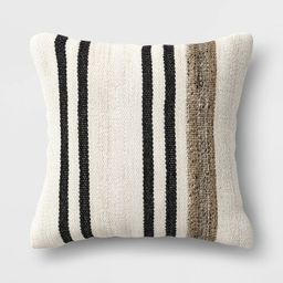"""20"""" Square Outdoor Throw Pillow Marled Stripe - Threshold™ designed with Studio McGee   Target"""
