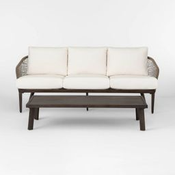 Risley Oversized Rope Patio Sofa and Coffee Table Set - Linen - Project 62™   Target