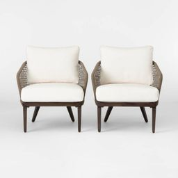 Risley 2pk Oversized Rope Patio Club Chair - Linen - Project 62™   Target