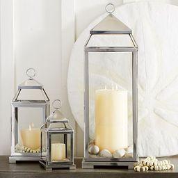 Malta Glass & Metal Indoor/Outdoor Lantern Collection   Pottery Barn (US)