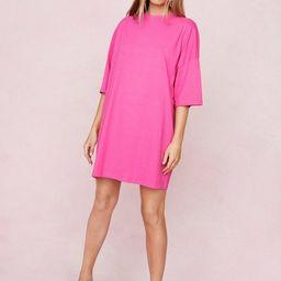 Oversized Drop Sleeve T-Shirt Dress   NastyGal
