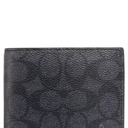 Signature Coated Canvas & Leather Coin Wallet   Nordstrom