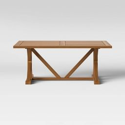 Morie Farmhouse Wood Rectangle Dining Table - Natural - Threshold™   Target