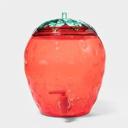 2.1gal Plastic Strawberry Beverage Dispenser Red - Sun Squad™   Target